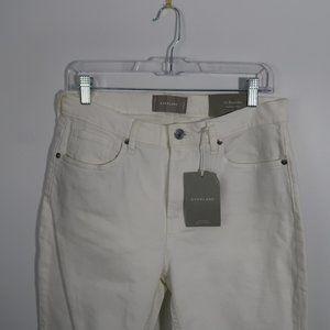 Everlane High Rise Skinny Jeans White 30R